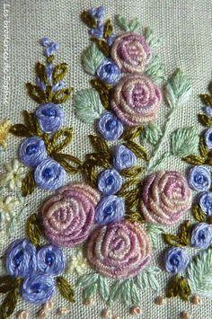 Bullion stitch roses...image