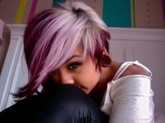 omg i wanna do this to my hair. so perdy!
