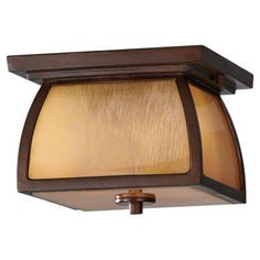 Feiss Wright House 1-Light Sorrel Brown Outdoor Flushmount-OL8513SBR - The Home…