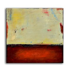 Painting Acrylic, Wall Decor,  LANDSCAPE,  Wall art, On canvas, Original Hand Made, Abstract Painting,  red art, 24x24 canvas