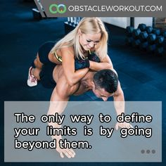 The only way to define your #limits is by going beyond them. https://obstacleworkout.com/ #Fitness #Workout #WorkoutMotivation