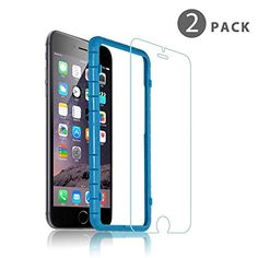 TNP iPhone 7 Plus Tempered Glass Screen Protector For Apple iPhone 7 Plus 6S Plus 6 Plus w Easy Perfect Installation Kit  HD Crystal Clear 02mm 9H 25D Premium Hard Screen Film Cover Guard 2 Pack >>> Click image for more details.