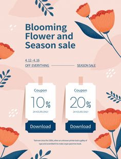 Spring season sale. coupon web page of f... | Premium Vector #Freepik #vector #banner #flower #frame #sale Banner Design, Layout Design, Page Design, Free Banner Templates, Seasons Posters, Fashion Banner, Best Banner, Instagram Design, Sale Banner