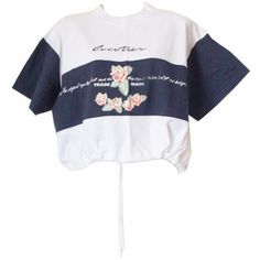 90s sporty crop top, gabber white cropped shirt, striped floral... ($27) ❤ liked on Polyvore