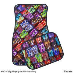 Wall of Flip Flops Floor Mat
