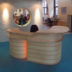 beautiful curved reception desk