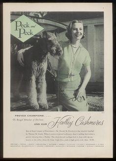 Hadley Cashmeres Ad 1952