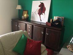 Salotto verde. Aria di fresco! Mobile antico, arredamento, sala, quadro