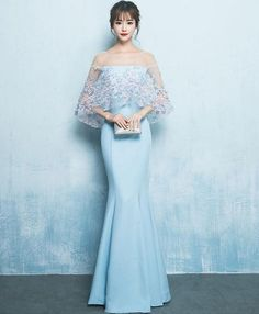 On Sale Distinct Prom Dresses Long, Prom Dresses Simple, Prom Dresses Blue, Mermaid Prom Dresses Blue Evening Dresses, Mermaid Evening Dresses, Prom Dresses Blue, Formal Dresses, Mermaid Dress Prom, Evening Gowns, Simple Prom Dress, Classy Dress, Dress Long