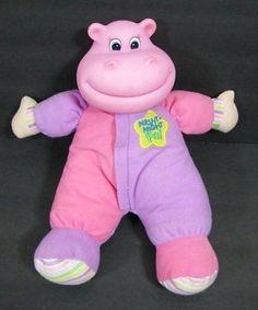 "11"" Purple Pink NIGHT NIGHT Baby HIPPO Musical Light Up Bedtime KS TOYS B236"