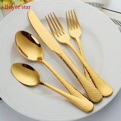 Black, 16pcs Set Vangogh 16 Piece Stainless Steel Cutlery Set Black Steel Spoons Forks Dining Tableware Dinnerware Sets