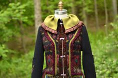 Patchwork boho Sweater COAT. Refashioned earthy by amberstudios