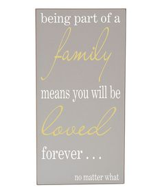 Take a look at this Gray & White Family Means Love Wall Art by Vinyl Crafts on #zulily today!
