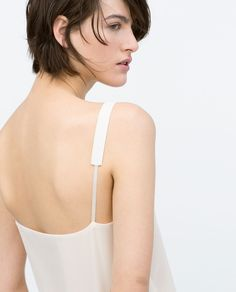 Image 6 of DRAPED CAMISOLE TOP from Zara