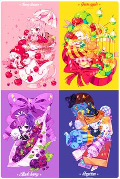 Cherry blossom, Apple, blackberry, and wizard cookie!