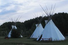Sleep in a tipi in the Alberta Badlands
