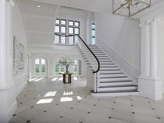 View this luxury home located at 521 Round Hill Road Greenwich, Connecticut, United States. Sotheby's International Realty gives you detailed information on real estate listings in Greenwich, Connecticut, United States. Limestone Flooring, Teak Flooring, Bedroom With Ensuite, Small Room Bedroom, Grand Staircase, Staircase Design, Round Hill, Mansions For Sale, Foyer Decorating