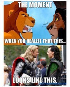 Thor/Loki~Mufasa/Scar