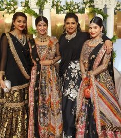 Stunning sisters at a Dhaka wedding Desi Wear, Indian Fashion, Sisters, Sari, Bride, Instagram Posts, How To Wear, Wedding, Clothes