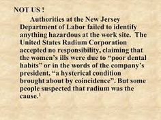 Image result for us radium corporation Radium Girls, Work Site, Odd Stuff, Dental, Words, Image, Strange Things, Teeth, Dentist Clinic
