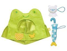 San-X Costume Dress - Frog (for Your Kiiroitori Yellow Chick) Green Frog Raincoat / Rain boots / Umbrella