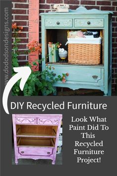 A recycled furniture project doesn't have to be difficult. Sometimes, all you need is just a little paint and some DIY elbow grease to get a great before and after story. I L-O-V-E a happy ending.