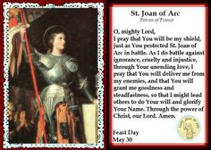 Mommy Life: May St. Joan of Arc, my patron saint Mom Prayers, Catholic Prayers, Catholic Saints, Patron Saints, Joan D Arc, Saint Joan Of Arc, St Joan, Joan Of Arc Quotes, Trials Quotes