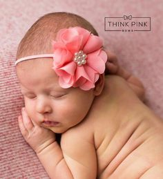 Soft Breeze Organza Flower Headband 19 Colors Available - Think Pink Bows - 1