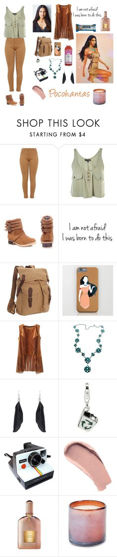 """""""Modern Day Pocohantas"""" by cybeledean ❤ liked on Polyvore featuring Vagabond Traveler, Disney, Child Of Wild, Amore La Vita, Polaroid, Burberry, Tom Ford, LAFCO and modern"""