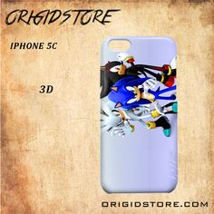 Sonic The Hedgehog cartoon For Iphone 5C Snap On and 3D Case