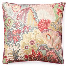 One Kings Lane - Designer Accents - Bromley 18x18 Pillow, Multi