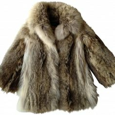 Vintage wolf fur coat | Fur coat, Wolf and Fur