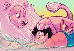 Steven and Lion-Steven Universe by Zuzixxxx on DeviantArt