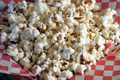 Microwave Popcorn - Light Butter & Salt- so easy and no toxic chemicals!  Lots of popcorn ideas on this site that are less then 100 calories!