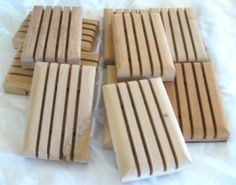Ten Wood Soap Dishes 10 pack handcrafted hostess by crochetgal, $30.00