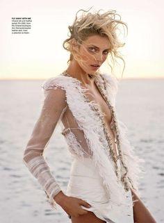 Blonde Beach Updos : Vogue Australia April 2011