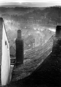"undr: ""Edwin Smith, Roofscape, Whitby, North Yorkshire, 1959 Thanks to yama-bato "" Vintage Photography, Art Photography, Street Photography, Cityscape Photography, Artistic Photography, Photo D Art, Robert Doisneau, Jolie Photo, North Yorkshire"