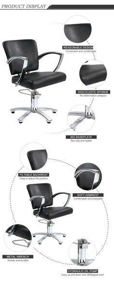 High Quality Hydraulic Barber Shop Styling Chair All Purpose Salon Equipment Hairdressing Equipment, Hairdressing Chairs, All Purpose Salon Chair, Salon Trolley, Salon Mirrors, Makeup Chair, Shampoo Bowls, Pedicure Chair, Beauty Salon Equipment