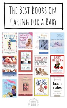 My Favorite Parenting Books on Caring for an Infant - includes general parenting as well as baby signing, sleep, and development. Best Parenting Books, Gentle Parenting, Baby Whisperer, Sleep Solutions, Four Kids, Toddler Play, Maybe One Day, Happy Baby, Book Lists