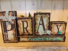 Pray Wood Block Sign by ktuschel on Etsy, $20.00