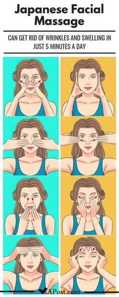 This Japanese Facial Massage Can Get Rid Of Wrinkles And Swelling In Just 5 Minu. This Japanese Facial Massage Can Get Rid Of Wrinkles And Swelling In Just 5 Minutes A Day (Supermodels Swear by It) Yoga Facial, Facial Diy, Beauty Tips For Glowing Skin, Health And Beauty Tips, Beauty Skin, Health Tips, Beauty Care, Diy Beauty, Natural Beauty