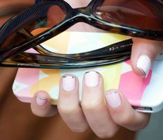 DYING!  How cute is the metallic french manicure?!?!  easy french manicure in silver by @popcosmo