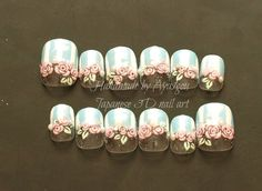 Hey, I found this really awesome Etsy listing at http://www.etsy.com/listing/97305601/fairy-kei-japanese-nail-art-rose-stripes  How Friggen' Cute!