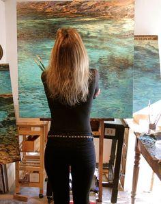 Caroline Zimmermann. I love how she paints water.