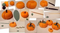 How to make Pumpkin Cupcakes toppers - - I found this tutorial online and thought it was a great thing to share with you because we can use pumpkins for fall, Halloween, and Thanksgiving. Don't be afraid of fondant, think of it mor…. Fondant Cupcakes, Fondant Toppers, Cupcake Cakes, Fondant Olaf, Rose Cupcake, Pink Cupcakes, Mini Cakes, Cup Cakes, Bolo Halloween