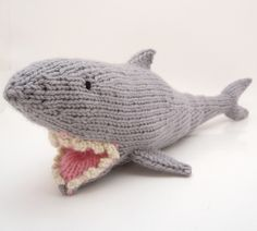 Knitting Pattern Shark Sleeping Bag : the miniature knit shop shark sleeping bag Shark Week ...