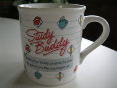 Study Buddy Coffee Mug Cup Hallmark Novelty Mug by ShariansPlace