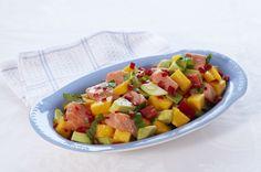 Få oppskriften på en frisk og smakfull mangosalat med SALMA.