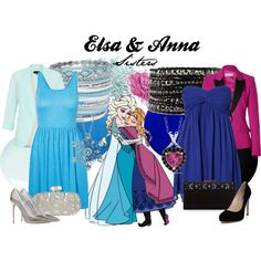 """""""Elsa & Anna"""" by amarie104 on Polyvore"""