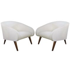 1stdibs | Mid-Century Modern Style Barrel Chairs by Galerie Sommerlath, Pair